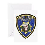 Red Bluff Police Greeting Card