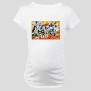 Atlanta Georgia Greetings Maternity T-Shirt