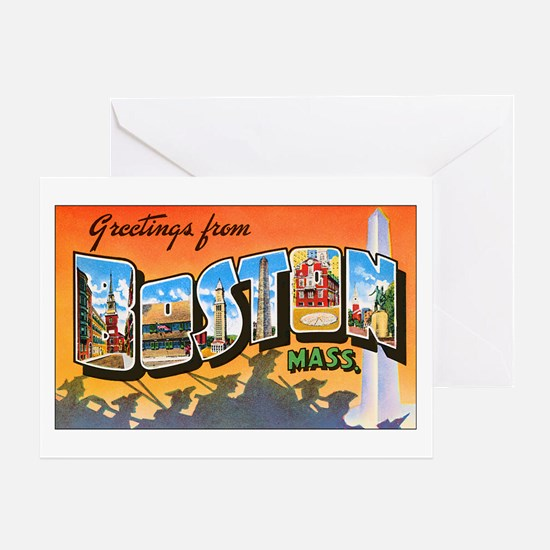 Boston Massachusetts Greeting Card