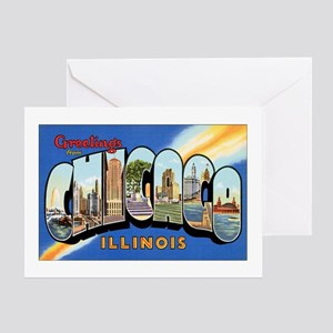 Chicago Illinois Greetings Greeting Card