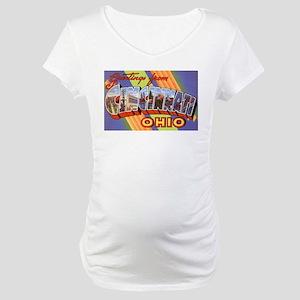 Cincinnati Ohio Greetings Maternity T-Shirt