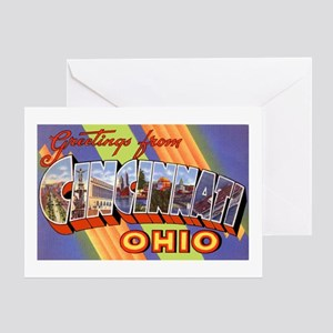 Cincinnati Ohio Greetings Greeting Card