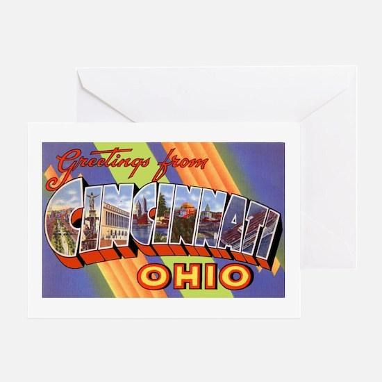 Cincinnati Ohio Greetings Greeting Card