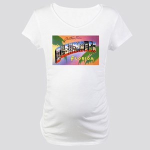 Clearwater Florida Greetings Maternity T-Shirt