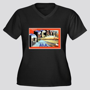 Decatur Alabama Greetings Women's Plus Size V-Neck