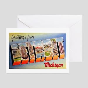 Detroit Michigan Greetings Greeting Card
