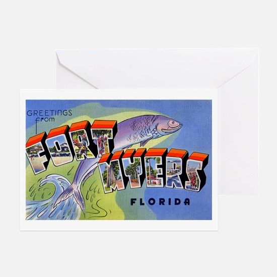Fort Myers Florida Greetings Greeting Card