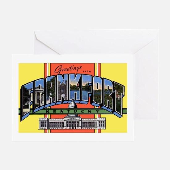 Frankfort Kentucky Greetings Greeting Card