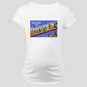 Harrisburg Pennsylvania Greet Maternity T-Shirt