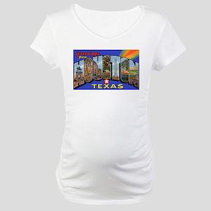 Houston Texas Greetings Maternity T-Shirt