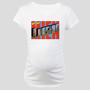 Lansing Michigan Greetings Maternity T-Shirt