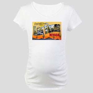 Las Vegas Nevada Greetings Maternity T-Shirt