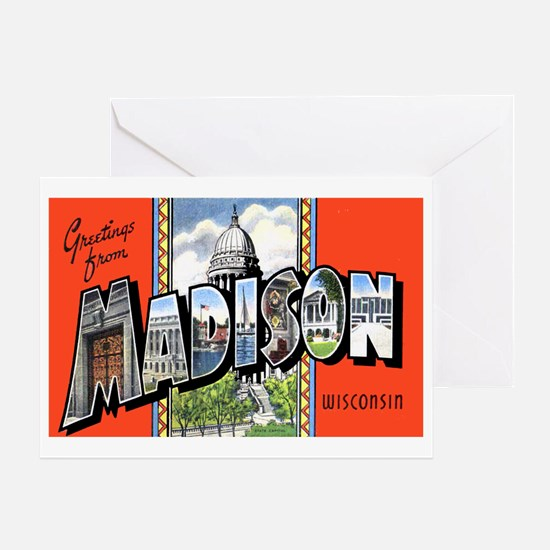 Madison Wisconsin Greetings Greeting Card