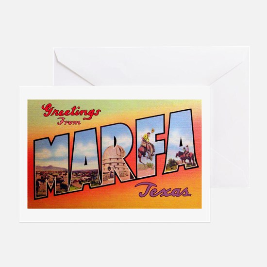 Marfa Texas Greetings Greeting Card