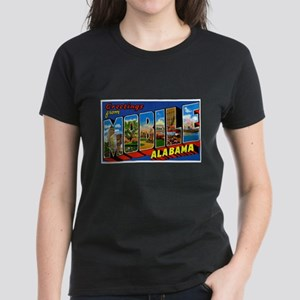 Mobile Alabama Greetings Women's Dark T-Shirt