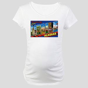 Mobile Alabama Greetings Maternity T-Shirt