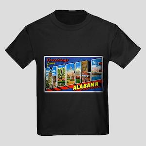 Mobile Alabama Greetings Kids Dark T-Shirt