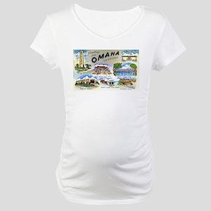 Omaha Nebraska Maternity T-Shirt