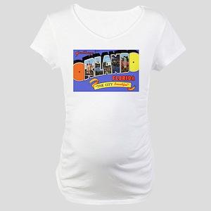 Orlando Florida Greetings Maternity T-Shirt