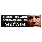 Rich Retired Whites Bumper Sticker