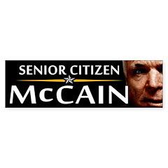 Senior Citizen McCain Bumper Bumper Sticker