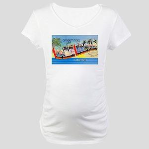 Palm Beach Florida Greetings Maternity T-Shirt