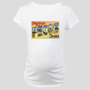 Pecos Texas Greetings Maternity T-Shirt