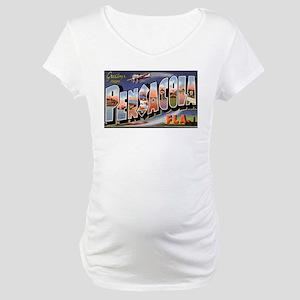 Pensacola Florida Greetings Maternity T-Shirt