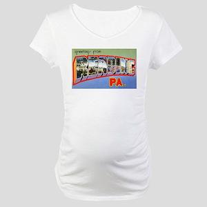Reading Pennsylvania Greeting Maternity T-Shirt