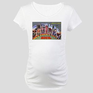 Saginaw Michigan Greetings Maternity T-Shirt