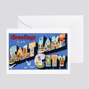 Salt Lake City Utah Greetings Greeting Card