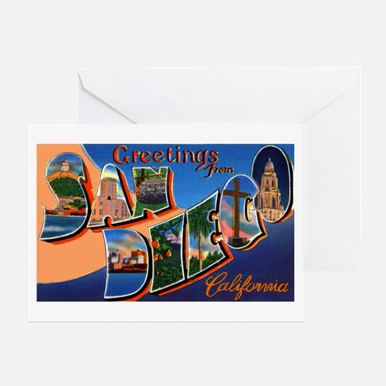 San Diego California Greeting Greeting Card