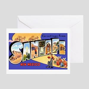 Santa Fe New Mexico Greetings Greeting Card