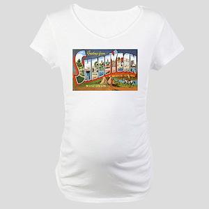 Sheboygan Wisconsin Greetings Maternity T-Shirt