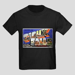 Sioux Falls South Dakota Gree Kids Dark T-Shirt