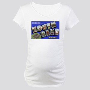 South Bend Indiana Greetings Maternity T-Shirt