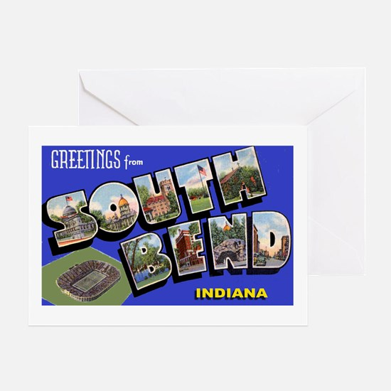 South Bend Indiana Greetings Greeting Card