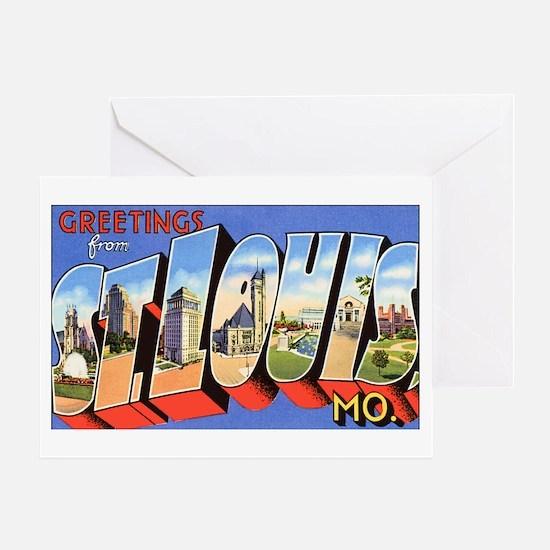 St Louis Missouri Greetings Greeting Card