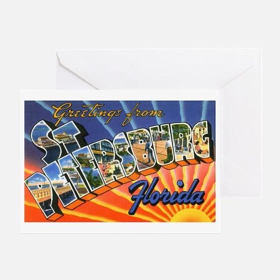 St Petersburg Florida Greetin Greeting Card