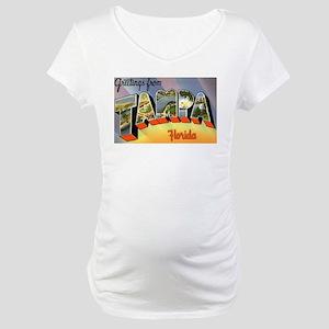 Tampa Florida Greetings Maternity T-Shirt