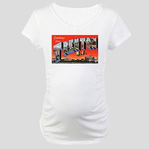 Trenton New Jersey Greetings Maternity T-Shirt