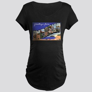 Indiana Greetings Maternity Dark T-Shirt