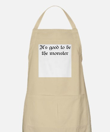 It's good to be the monster BBQ Apron