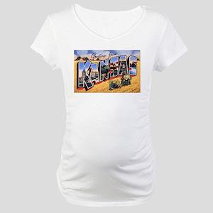 Kansas Greetings Maternity T-Shirt