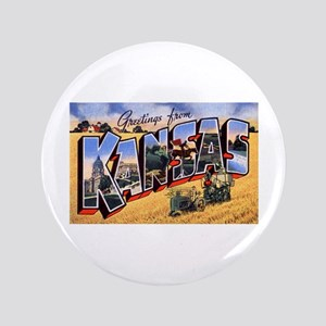 "Kansas Greetings 3.5"" Button"
