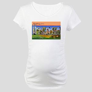 Nebraska Greetings Maternity T-Shirt