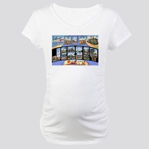 New Jersey Greetings Maternity T-Shirt