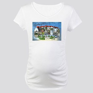 Oklahoma Greetings Maternity T-Shirt