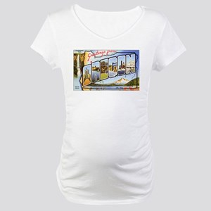 Oregon Greetings Maternity T-Shirt