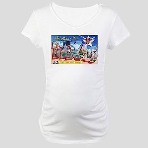 Texas Greetings Maternity T-Shirt